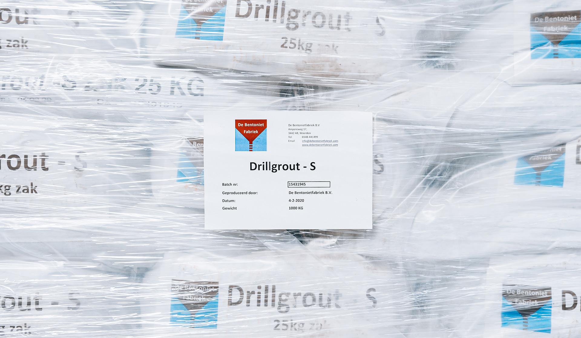 Bentoniet grout product drillgrout S